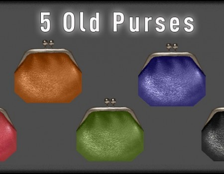 5 purses in old style