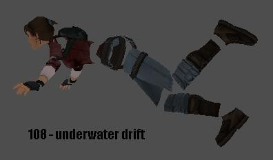 Underwater drift animation