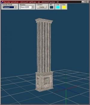 Greek Wall Column