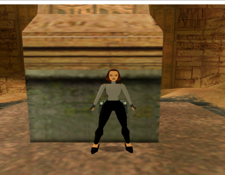 lara with a turtleneck and heels