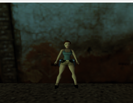 young lara with heels