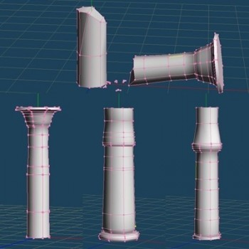 Egyptian Columns Meshes