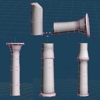 Egyptian Columns Meshes