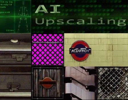 London Textures and WAD Faces 2x AI Upscaled