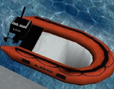 NEW RUBBER BOAT (RED)