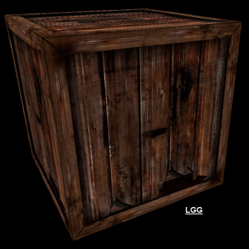 NG TR1 Pushable Wooden Crate