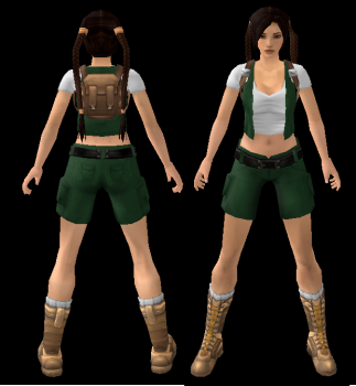 NG TR4 Young Lara (With Backpack) Outfit