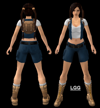 Young Lara (Blue With Backpack) Outfit