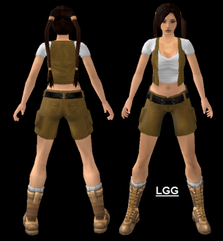 Young Lara (Yellow) Outfit