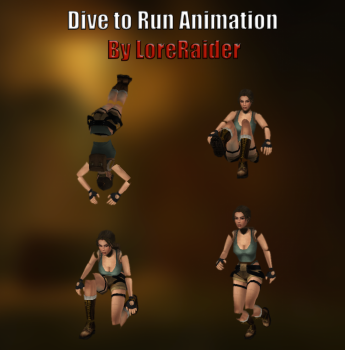 Dive to Run Animation