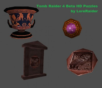 Tomb Raider 4 Beta HD puzzles