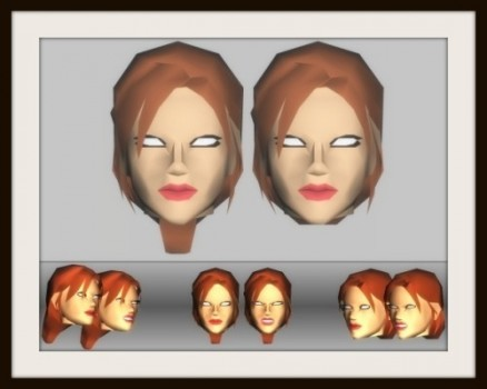 Underversary & TR1 Style Head Mesh