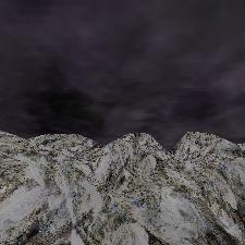 3D Mountain Winter Night Horizon