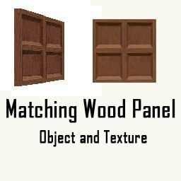 Matching Wood Panel Object and Texture