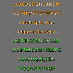 Tomb Raider 1 and 2 Fonts (TRLE)
