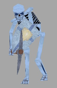 Frozen Skeleton with Pickaxe