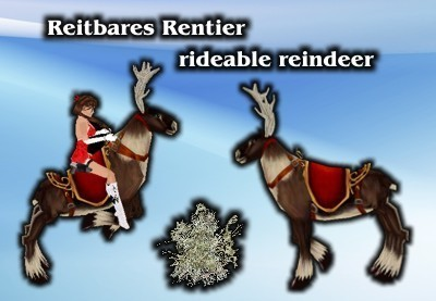Rideable reindeer