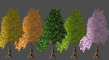 Trees (usable for my bees)