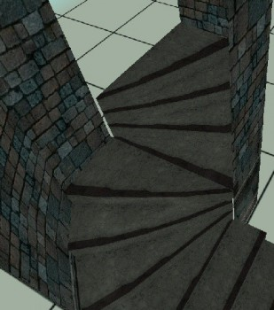 Curved Staircase: Stone