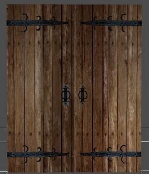 Medieval double doors